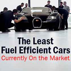 A List of the Least Fuel Efficient Cars Currently on the Market