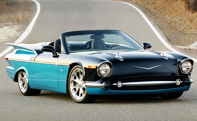 Chevy 789 in Aqua and Black with Tri-Toned Interior: