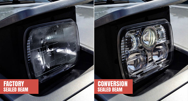 Sealed Beam Conversion Headlights