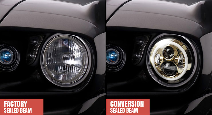 Sealed Beam Conversion Headlights - Sealed Beam Conversion Kits