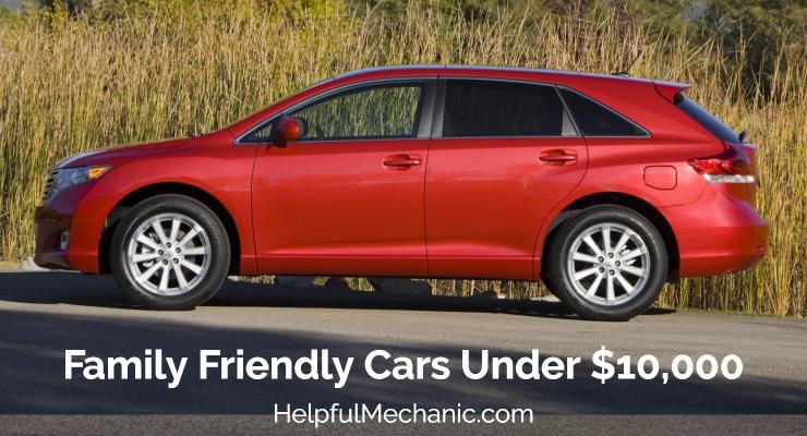 Toyota Family Friendly Cars Under 10K